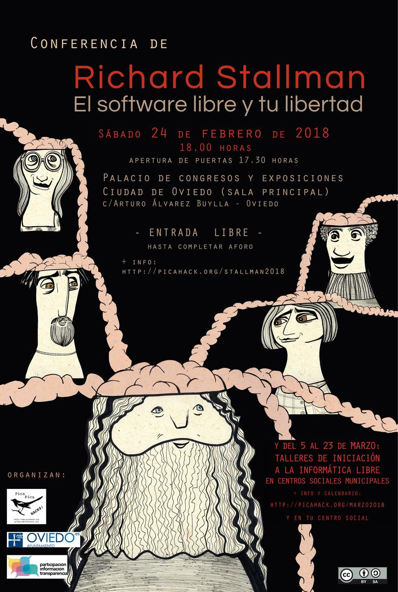 Cartel Richard Stallman 2018